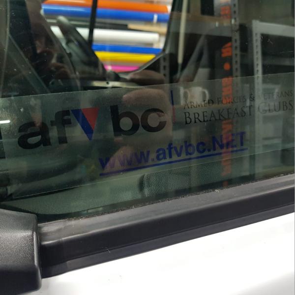 AFVBC window sickers